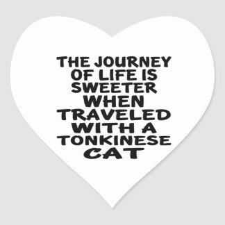 Traveled With Tonkinese Cat Heart Sticker