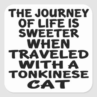 Traveled With Tonkinese Cat Square Sticker