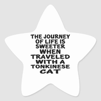 Traveled With Tonkinese Cat Star Sticker