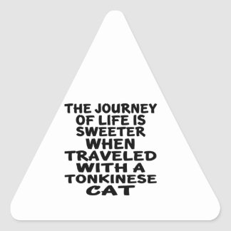Traveled With Tonkinese Cat Triangle Sticker