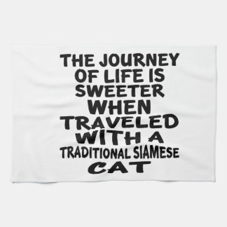 Traveled With Traditional Siamese Cat Kitchen Towel