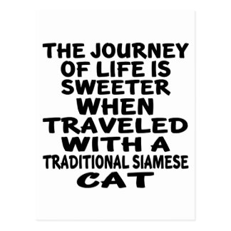 Traveled With Traditional Siamese Cat Postcard