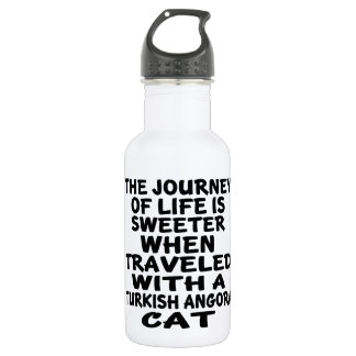 Traveled With Turkish Angora Cat 532 Ml Water Bottle