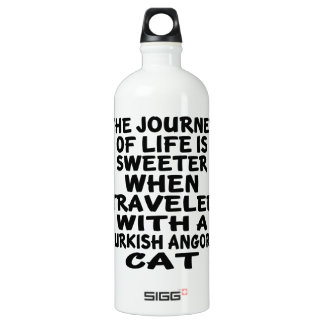 Traveled With Turkish Angora Cat Water Bottle