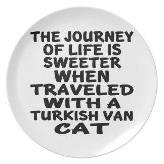 Traveled With Turkish Van Cat Dinner Plates