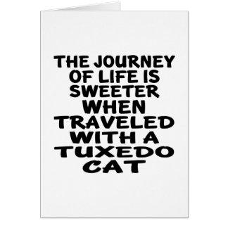 Traveled With Tuxedo Cat Card