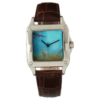 Traveler in the Japanese Fog in Old Japan Vintage Wristwatches