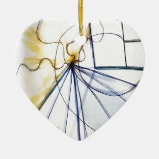 Traveler of Many Cosmos Ceramic Heart Ornament