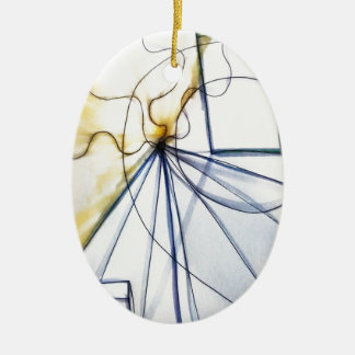 Traveler of Many Cosmos Ceramic Oval Ornament