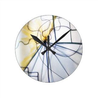 Traveler of Many Cosmos Round Clock