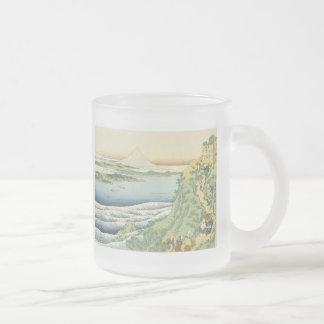 Travelers Climbing A Mountain,  Hokusai, 1835 Mug