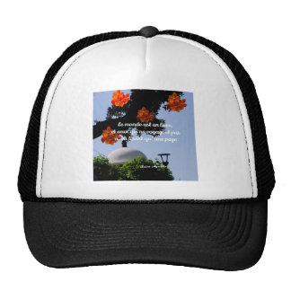Travelers read the book of the world trucker hat