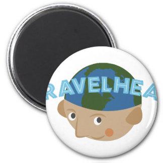 Travelhead 2 Inch Round Magnet