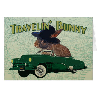 Travelin' Bunny Note Card