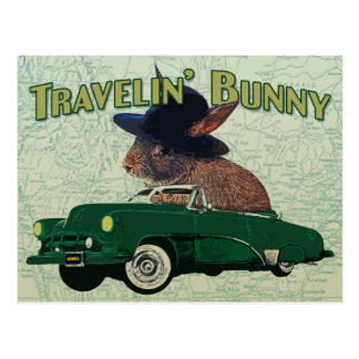 Travelin' Bunny Postcard
