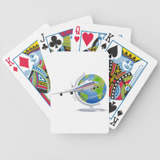 Traveling around the Globe Bicycle Playing Cards