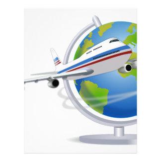 Traveling around the Globe Letterhead