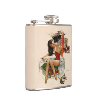 Traveling Circus Hip Flask