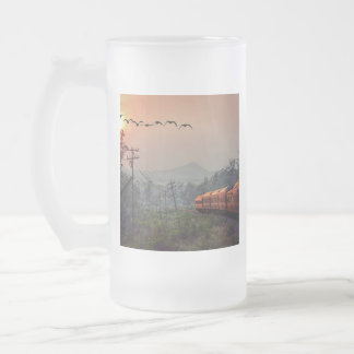 Traveling Frosted Glass Beer Mug