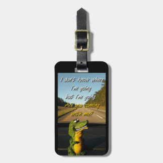 Traveling Gator Luggage Tag
