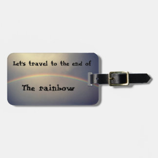 traveling the rainbow bag tag