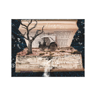 Traveling Through the World of a Book Canvas Print