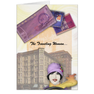 Traveling Woman Series - Flapper Card