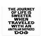 Travelled With A Anatolian Shepherda dog Life Postcard