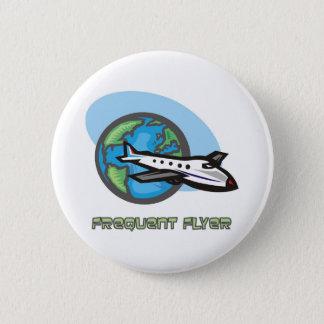 Traveller: Frequent flyer passenger airplane 2 Inch Round Button