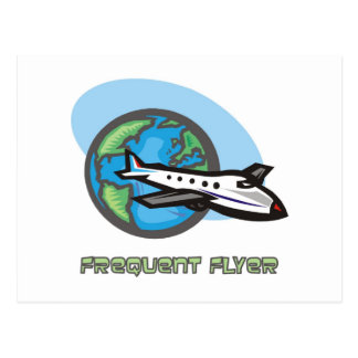 Traveller: Frequent flyer passenger airplane Postcard