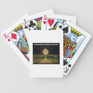 Travelling East Bicycle Playing Cards