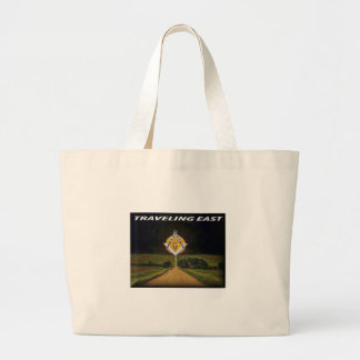 Travelling East Large Tote Bag