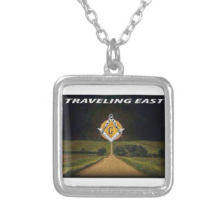Travelling East Silver Plated Necklace
