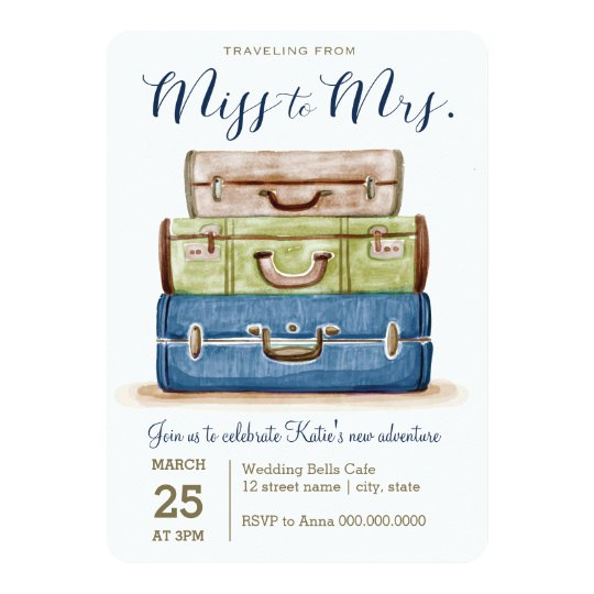 Travelling from Miss to Mrs. Shower Invitation