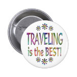 Travelling is the Best Pinback Button