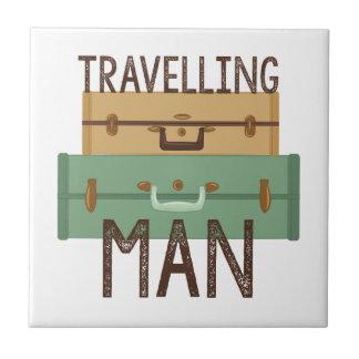 Travelling Man Ceramic Tile