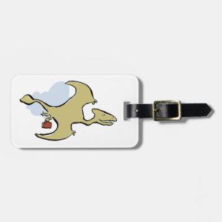 travelling pterosaur luggage tag