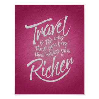 Travelling quote - artistic design poster