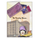 Travelling Woman Series - Flapper Greeting Card
