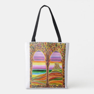 Travels dreamy vision of Italian castle by the sea Tote Bag