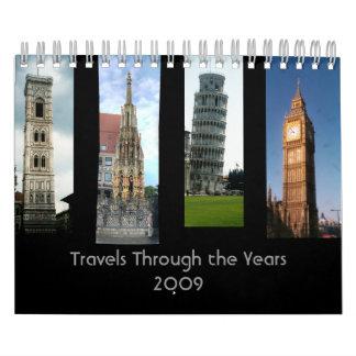 Travels Through the Years Calendar