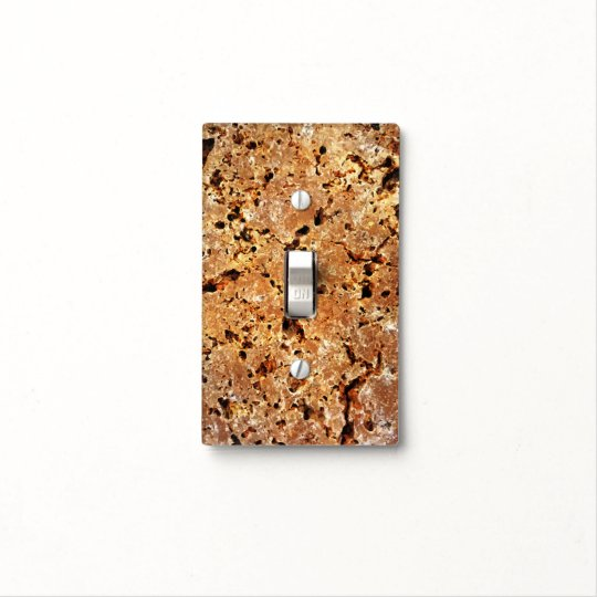 Travertine Stone Look Light Switch Cover