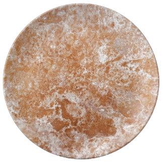 Travertine Stone Pattern Porcelain Plate
