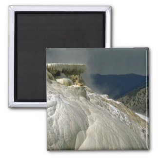 Travertine terraces, Yellowstone National Park, Ca Magnet