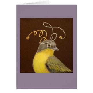 Travis the Nashville warbler card