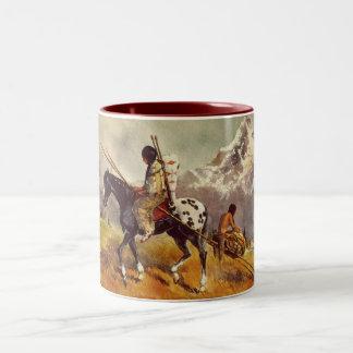 TRAVOIS by SHARON SHARPE Two-Tone Coffee Mug