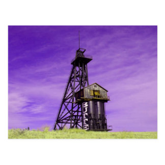 Travona Head Frame - Butte Montana Postcard