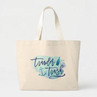 Trawler Trash Large Tote Bag