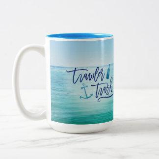 Trawler Trash - (This might be rum) Two-Tone Coffee Mug
