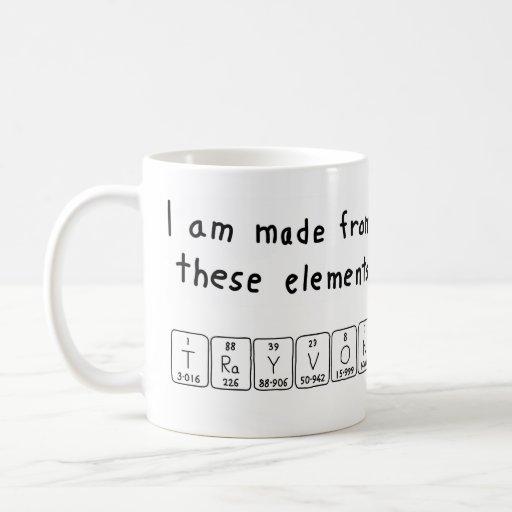 Trayvon periodic table name mug